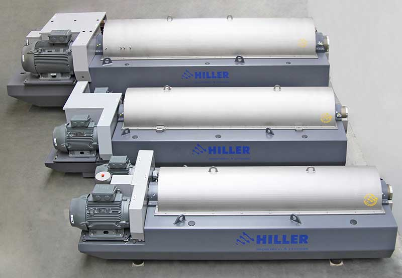 Hiller decanter centrifuges