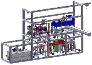 Rendering of a complete waste oil system
